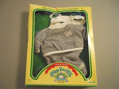 VINTAGE 1983 COLECO CABBAGE PATCH KIDS DOLL CLOTHES GREY JUMPSUIT OUTFIT
