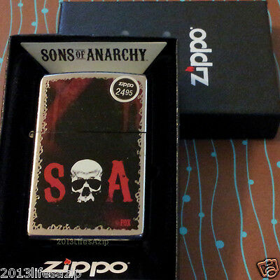 ZIPPO 28836 SOA Sons of Anarchy Street Chrome NEW in box Windproof Lighter