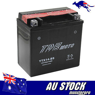 YTX14-BS 12V 12AH ATV Motorcycle Battery For Aprilia Dorsoduro Shiver MANA850