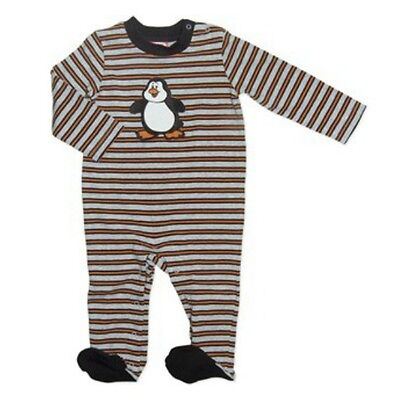 BNWT Baby Boys Cute Penguin Striped Footed Romper Coverall - 0000 000 00 0
