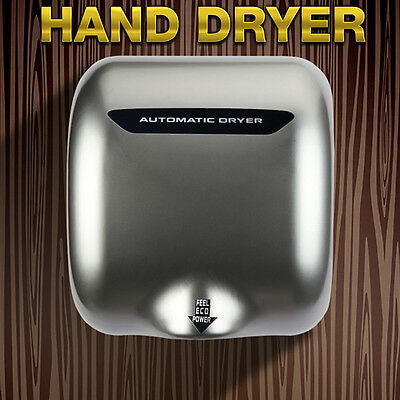 Automatic Electric Hand Dryer Stainless Steel High Speed 1800W with Heating