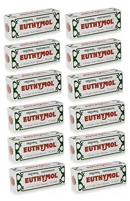 12 X Euthymol Original Toothpaste 75Ml, Limited Stock Left!!!