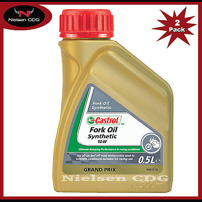 Castrol Fully Synthetic Fork Oil 10W Suspension Fluid - 2x500ml = 1 Litre