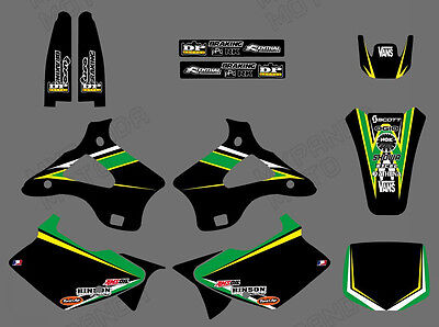 Team Graphics & Backgrounds Decals For Kawasaki Kx125 Kx250 1994 95 96 1997 98