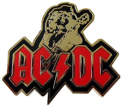 Ac/dc Angus Young Guitar Hero Metal & Enamel Pin Badge