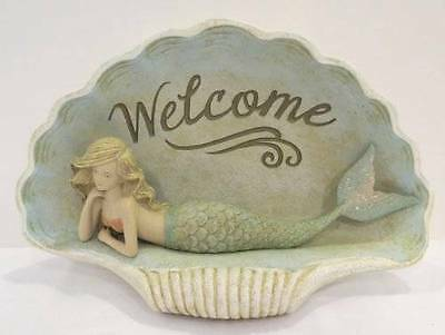 Grasslands Road Shimmering Sea Collection Mermaid Welcome Figurine in Shell