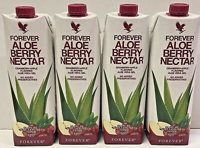4 Pack Piezas Forever Living Aloe Berry Nectar 1 Liter  33.9 Fl FREE SHIPPING!