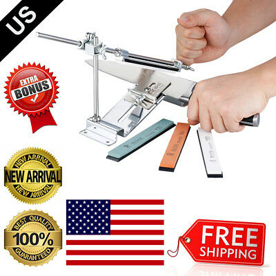 Knife Sharpener Professional Kitchen Sharpening System III Fix-angle With 4Stone