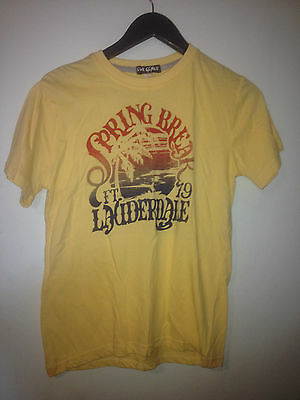 Evil Genius Spring Break Tee -  Yellow    Bnwt Sz 14 - Free Postage!!