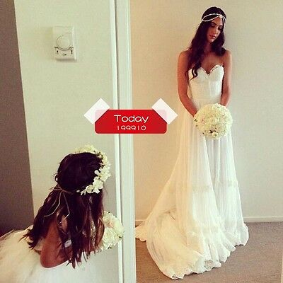 New Lace Inbal Dror Sweetheart Soft tull Lace A-line Sweep Train Wedding dresses