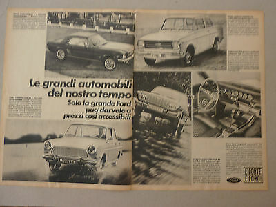 Advertising Pubblicita' Ford Mustang Anglia Taunus   -- 1966