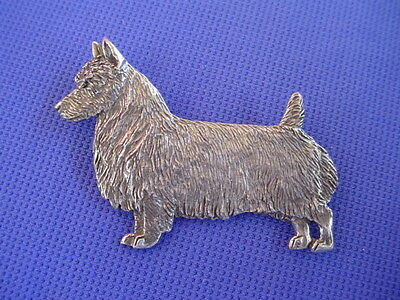 Australian Terrier Pewter Pin #62A STANDING dog jewelry by Cindy A. Conter  CAC