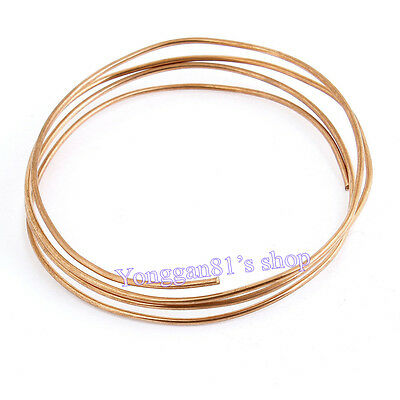 1.5M Length 2mm Dia Copper Tone Refrigeration Capillary Pipe Tubing Coil