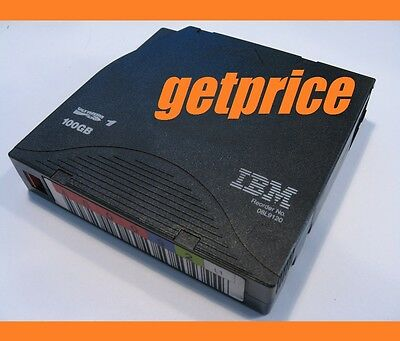 LOT OF 50x  IBM 100GB LTO1 LTO-1 tape ULTRIUM IBM with BARCODE