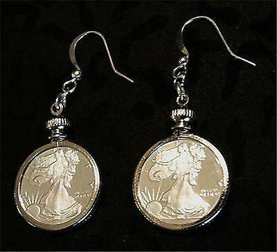 1/10 oz. Pure Fine Silver  American Eagle Rounds -  Earring Set