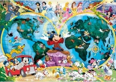 Disney World Map 1000 Piece Jigsaw Puzzle Featuring the entire Disney Family: Di