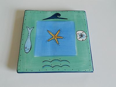 Brushes Hand Painted Trivet From K.I.C. - Ocean Items