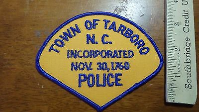 VINTAGE TARBORO   POLICE NORTH CAROLINA OBSOLETE SHOULDER PATCH BX 4#24