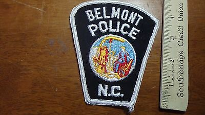 VINTAGE BELMONT NORTH CAROLINA POLICE DEPARTMENT OBSOLETE SHOULDER PATCH BX 4#24