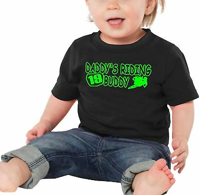 Daddy's Riding Buddy Baby T Shirt Infant Dirt Bike Number Plate Motocross Mx