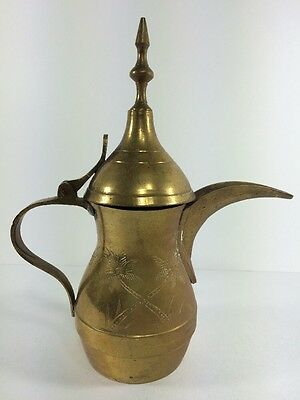 ISLAMIC DALLAH Coffee Tea Pot Arabic Middle Eastern Arabian Oman 7.2""