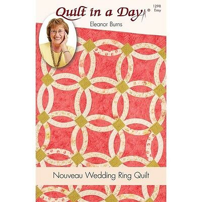 Eleanor Burns Patterns Nouveau Wedding Ring Quilt Pattern. Shipping is Free