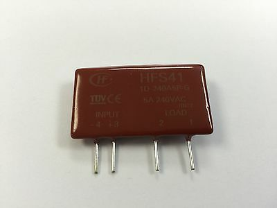 1 x Hongfa HFS411D240A5PG 5 Amp 3-15VDC Random T.O PCB 240V Solid State Relay