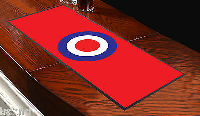 MOD TARGET RED Bar Towel Runner Pub Mat Beer Cocktail Party Gift