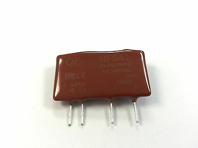 1 x Hongfa HFS412D380A5ZG 5 Amp 15-32VDC Zero X T.O PCB 380V Solid State Relay