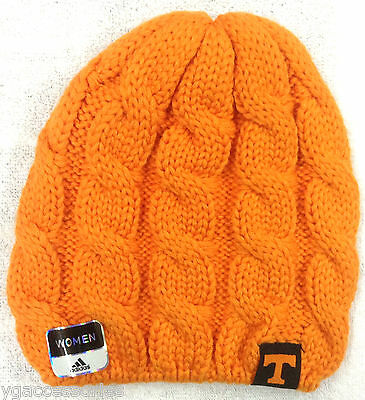 buy online 83785 2a813 NCAA Tennessee Volunteers Adidas Womens Cuffless Winter Knit Hat Cap Beanie  NEW!