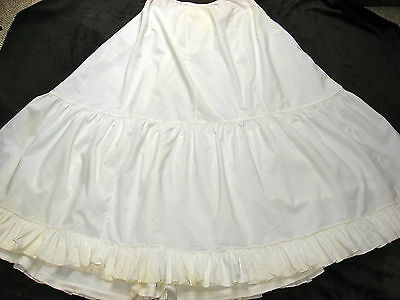 "Antique Edwardian Period Petticoat, Skirt, 104"" Wide Sweep W Flounce"