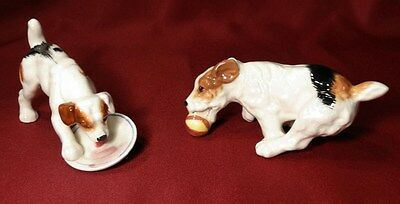 Vintage Napco JACK RUSSELL TERRIER Dog Figurines-InCrEdiBLE Details-Action Poses