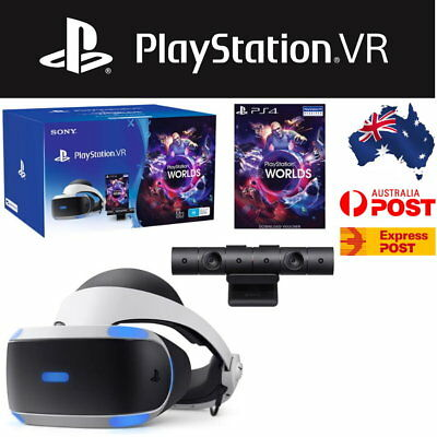 Sony PlayStation VR Headset + PS4 Camera + VR Worlds Game Bundle - Express Post