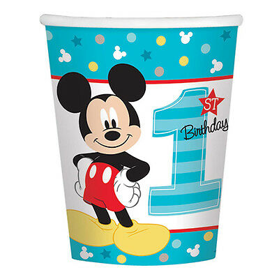 Disney Baby Mickey Mouse 1st Birthday Party Favor Supplies 9oz Paper Cups