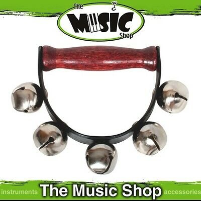 New Mitello Pro Series Large Sleigh Bells on Band with Handle - 5 Bells - ED105