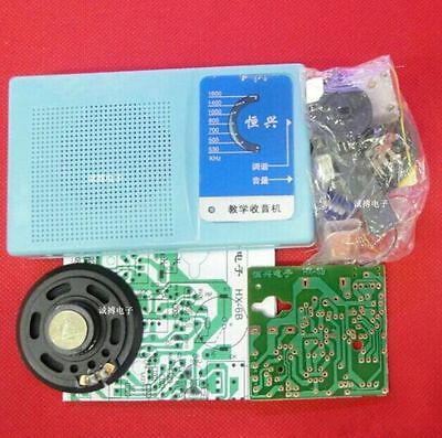 DIY Kits Superheterodyne Radio Receiver 6 Transistor +sch+case