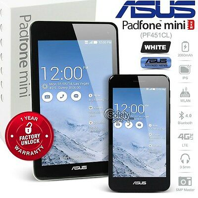 ASUS Padfone Mini PF451CL 8GB Android 4G LTE White Phone+Tablet Docking Station
