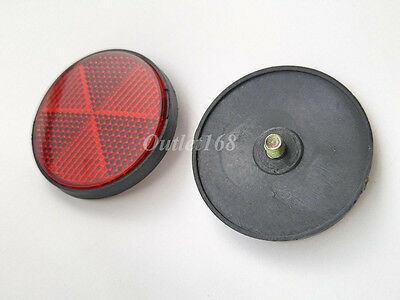 Pair Yamaha Rear Taillight Tail Lamp or Fender Reflex Reflector Red Round ⌀ 56mm