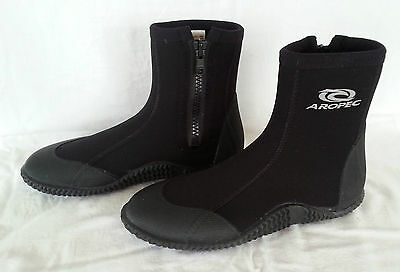 Aropec 5mm Neoprene Zipper Wetsuit Boots/Shoes Jetski Kayak Surf Diving Boat