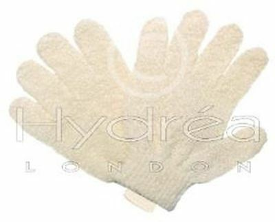 Hydrea London Luxury Natural Cotton Exfoliating Shower Gloves BCEG2