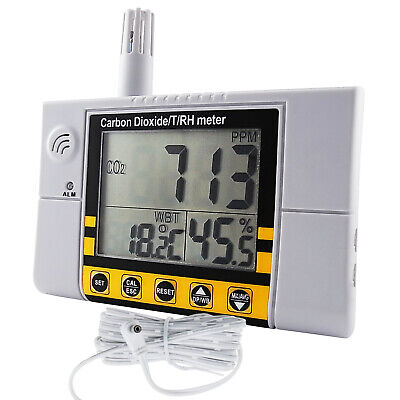 Carbon Dioxide Meter (CO2) Monitor Indoor Air Quality Temperature RH NDIR Sensor