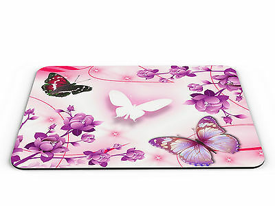Pink Butterflies PC Mousemat - Brand New