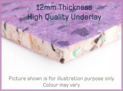 Great Value Premium Quality 12mm Thick PU Foam Carpet Underlay in Various Sizes
