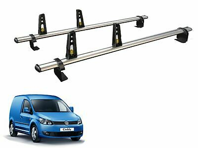 Van Guard ULTI Bar Aluminium 2 Bar Roof Rack and 4 Load Stops VW Caddy (10-15)