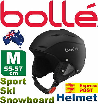 Bolle Vented Medium 55-57cm Headsize Sport Snowboard Ski Helmet Adjustable Vents