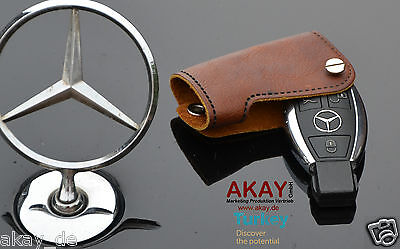 Premium Genuine Leather Key Fob Case for Mercedes Benz All Class TURKEY QUALITY,