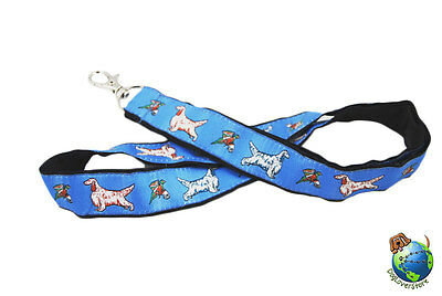 English Setter Lanyard Key Holder Badge Holder