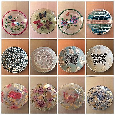 Candle Plates 16cm & 12cm - Various Designs and Styles