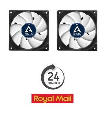 2 x Pack of Arctic Cooling F8 80mm Case Fans 2000 RPM (AFACO-08000-GBA01)