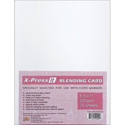 Copic Markers 22cm by 28cm Blending Card by X-Press It, 25 Sheets. Brand New